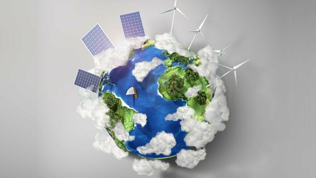 Globe-With-Solar-Panels