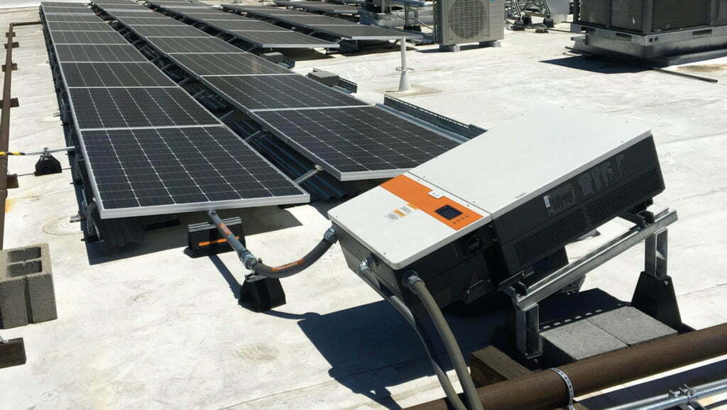 Solar-Panels-And-A-Solar-Inverter