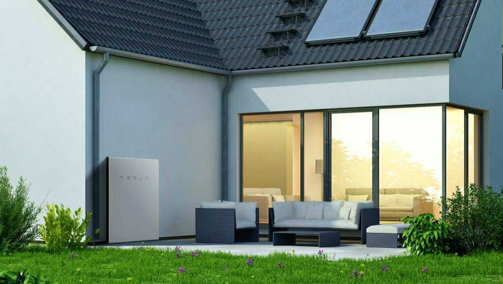 House-With-A-Tesla-Powerwall-On-The-Wall